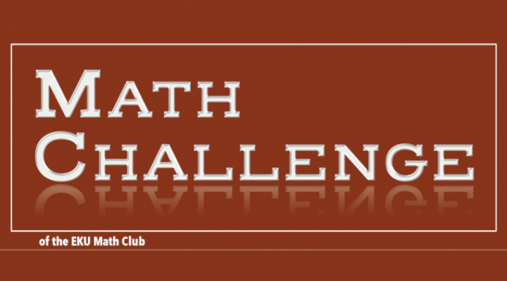 math challenge of the EKU math club header